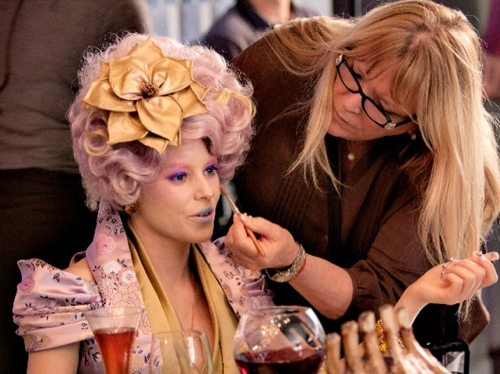 hunger games effie trinket hair flower